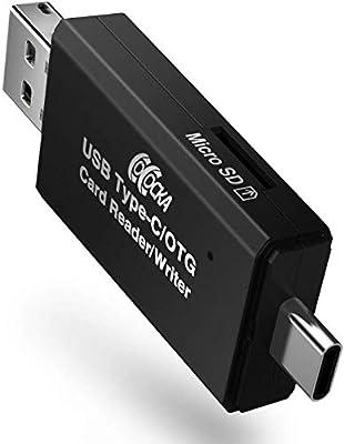 Adaptador 3 en 1 OTG y USB Tipo C/Micro USB Macho con Lector de ...