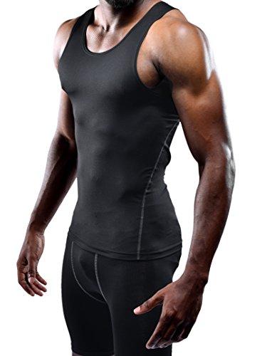 Neleus Men's Athletic 3 Pack Compression Under Base Layer Sport Tank Top,Black,XS,EUR S by Neleus (Image #2)