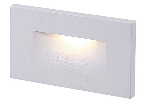Cloudy Bay 120V Dimmable LED Indoor Outdoor Step Light,3000K Warm White 3W 100lm,Stair Light,White Finish