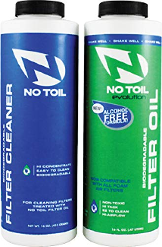 (No-Toil Evo Filter Oil & Cleaner (2pk) for Motorcycles EV104)