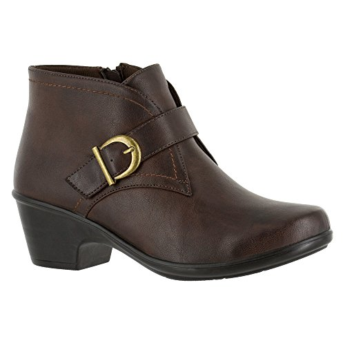 Easy Street Womens Banks Closed Toe Ankle Fashion Boots, Brown, Size 9.0 US/7 UK US