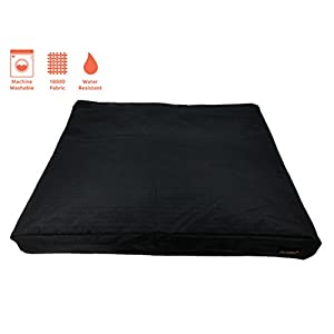 Niiyoh Mighty Dog Bed (Orthopedic) with Super Durable 1800D Ripstop Fabric (Great for Outdoors!)