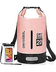 arteesol Drooghoudzakken Dry Bag 5L / 10L / 20L / 30L Waterdichte Dry Bag-rugzak met dubbele schouderriem Rugzak om te zwemmen Kajakken Varen Vissen Reizen Fietsen Strand