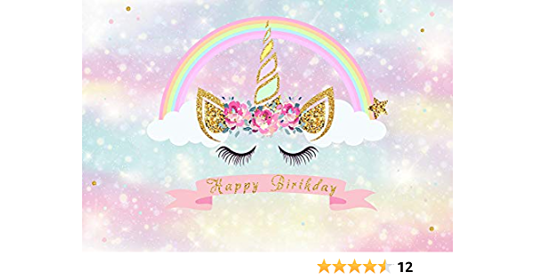 HUAYI White Screen with Pattern and Golden Crown Backdrop Welcome Little Princess Themed Party Decoration Background Taking Photos of Baby Shower vinly fabrich US-W-896-7/×5ft