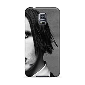Shockproof Hard Phone Cases For Samsung Galaxy S5 (ozR1883dmXf) Allow Personal Design High-definition Marilyn Manson Band Skin