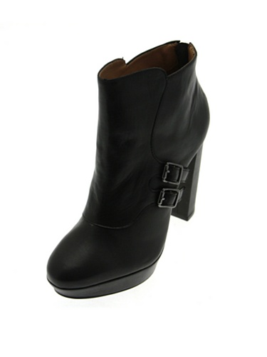 De Zapatos Negro Piel Vestir Lancaster Mujer Para pB0RqwwT