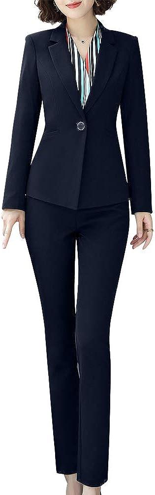 LISUEYNE Women Two Pieces Blazers Work Office Lady Suit Business Blazer Jacket&Pant