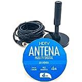 Mini Antena Tv Digital Interna Externa Hdtv Uhf Vhf Fm 4.0 Dbi 4mts Exbom – AN-I4040A