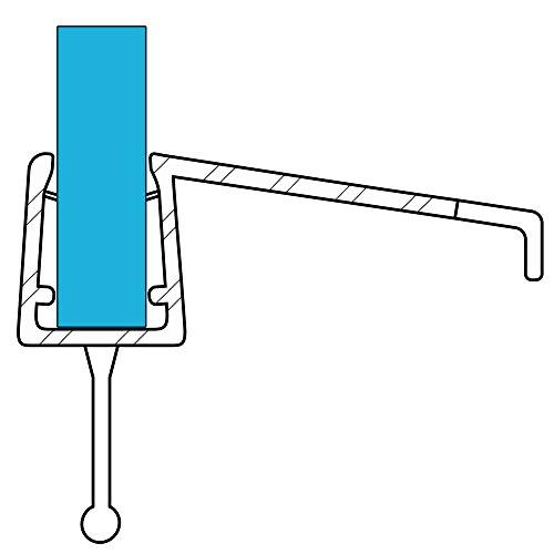 VARIOSAN joint 10858, 100 cm pour 6 à 8 mm d'épaisseur, s3 transparent