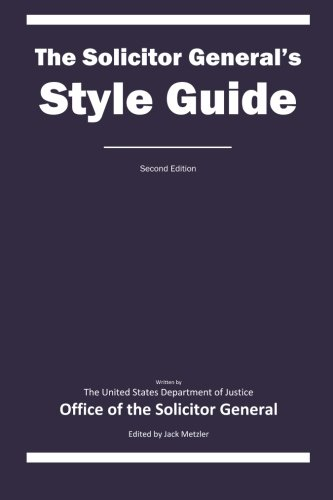 The Solicitor General's Style Guide: Second Edition