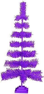 Amazon Com 30 Purple Christmas Tree Retro Style Purple Feather