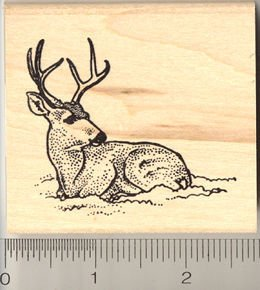 Mule Deer Rubber Stamp