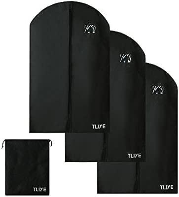 TLIYE funda para ropa Saco 3 unidades,incluye bolsa para zapatos ...