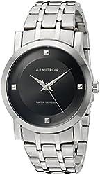 Armitron Men's 20/5111BKSV Silver-Tone Bracelet Watch