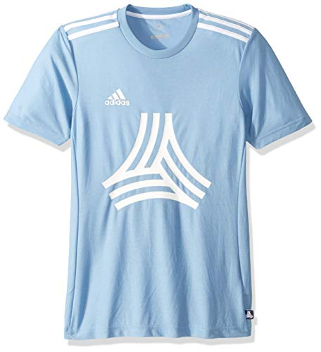 adidas Men's Soccer Tango Logo Tee, Ash Blue, XX-Large