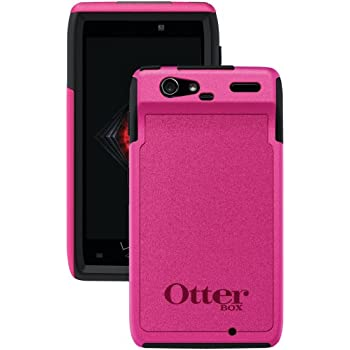 OtterBox Commuter Series Case for Motorola Droid RAZR - Does not fit Razr Maxx and Razr HD series- Retail Packaging - Black/Pink