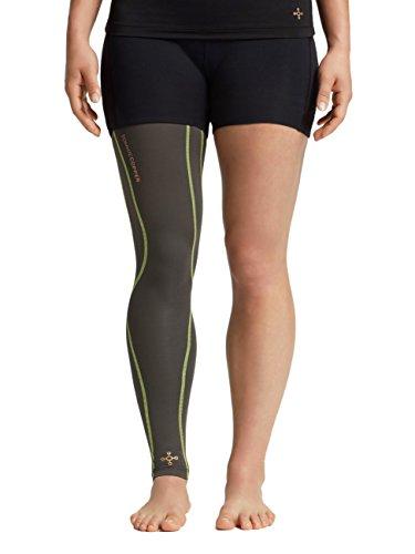 Tommie Copper Performance Full Leg 2.0 Sleeves, Slate Gray/TC Sulphur Stich, Small