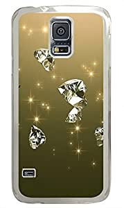 personalized Samsung Galaxy S5 case Beautiful Diamond Cool PC Transparent Custom Samsung Galaxy S5 Case Cover