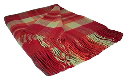 50 X 60 Double Sided Cotton Woven Couch Throw Blanket