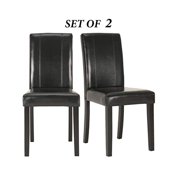 Upholstered Dining Chairs with Solid Wooden Legs, Modern Stylish Padded Parsons Chairs