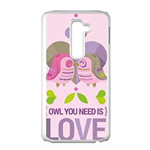 LG G2 Cell Phone Case White_Owl You Need Is Love FY1435477