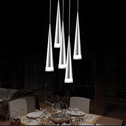 LightInTheBox Max 5W Pendant Light Modern/Contemporary Chrome Feature Chandeliers Ceiling Lighting Fixture for LED Metal Living Room/Bedroom / Dining Room/Kitchen 5 Lights on One Base