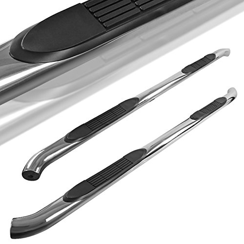 "Spec-D Tuning For Nissan Frontier Crew Cab 3"" Running Nerf Boards Side Step Bars Chrome S/S"