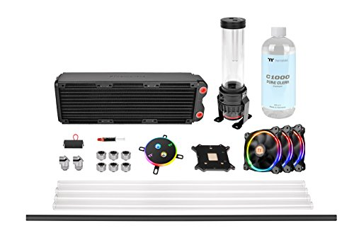 - Thermaltake Pacific M360 D5 Res/Pump PETG Hard Tube Water Cooling Kit CL-W217-CU00SW-A