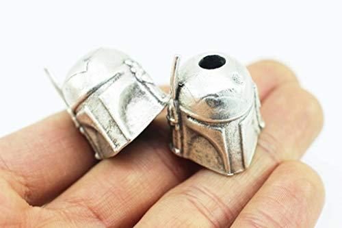 Golden Horn Jewelry Supplies Bounty Hunter Paracord Knife Lanyard Bead, 21x25 mm, Matt Silver Lanyard Bead, Knife Paracord Lanyard, Handmade, Paracord Accessories