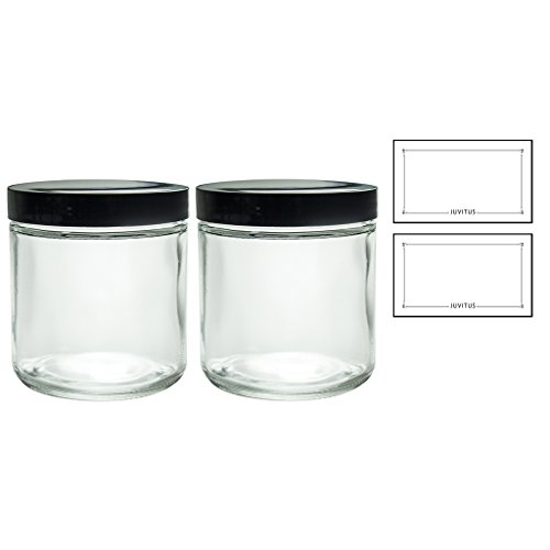 16 oz glass jars with lids - 3