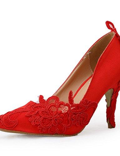 GGX/ Damen-Hochzeitsschuhe-Absätze / Spitzschuh-High Heels-Hochzeit / Kleid / Party & Festivität-Rot 3in-3 3/4in-us8 / eu39 / uk6 / cn39