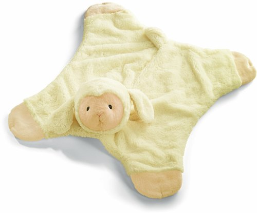 Baby GUND Lamb Comfy Cozy Stuffed Animal Plush Blanket, Cream, 24
