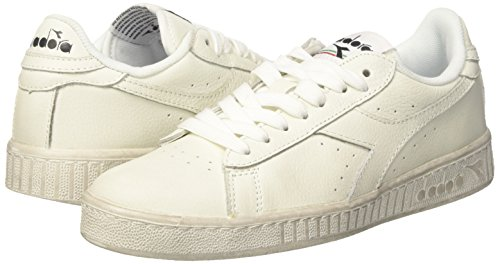 L Low A Adulto Diadora – bianco Collo Game bianco Waxed Bianco Basso bianco Unisex Sneaker TwW5xB