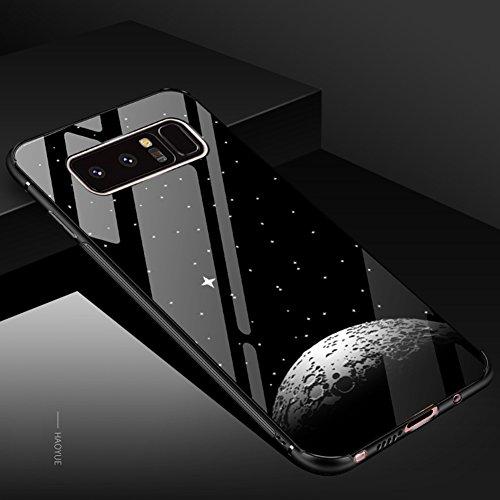 Tempered Glass Cover para Samsung Galaxy Note 8, Vandot 3D 9H Vidrio Cristal Templado + TPU Silicona Bumper Completo Borde Curvo Cubierta de la Caja Lujo Pintado Funda Protector para Samsung Galaxy No Glass 2 -5