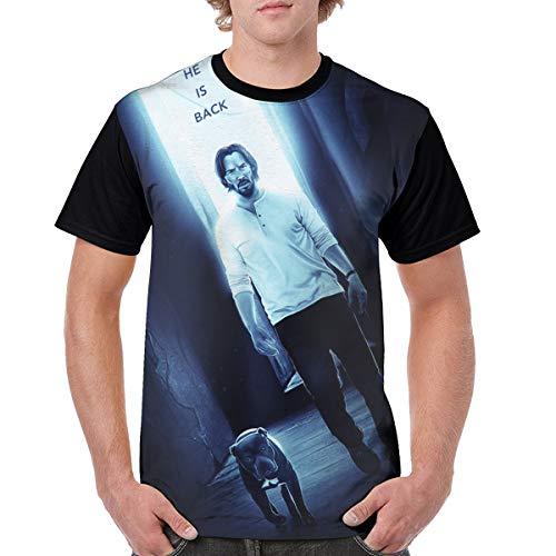 John Continental Hotel Assassin Killer Jonathan Wick T Shirt Short Sleeve Tee Shirts for Adult Men (Men-M)