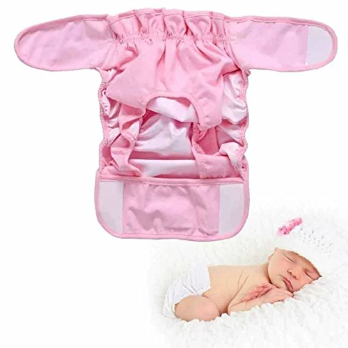 [Sealive Pure Cotton Baby Cloth Diaper Cover Baby Nappy Waterproof Breathable Bag 3 Sizes 3 Colors Washable Adjustable Breathable Cloth Diaper for 0-6 Months Baby Boys and Girls(Pink S)] (Cloth Diaper Basic Package)