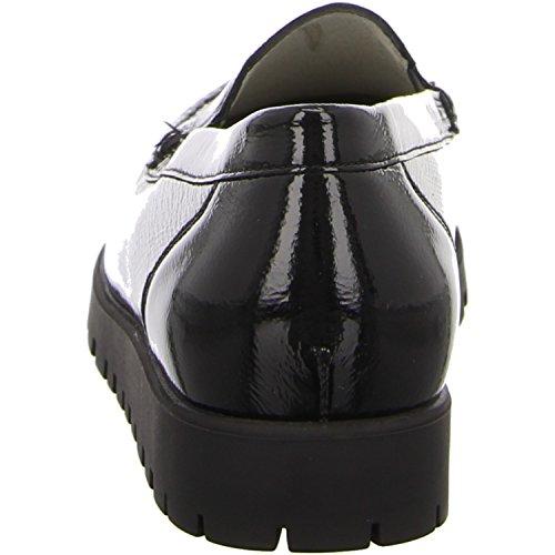 Waldläufer, 549001-143-001, Hegli Pantofola Donna, Nero/nero