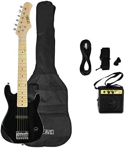 3rd Avenue STX30BKPK Paquete de guitarra eléctrica junior, Negro ...