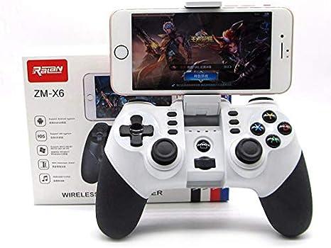 Accrie Manette de jeu Bluetooth sans fil pour iPhone Android T/él/éphone Tablette PC Jeu Manette Joystick Joypad
