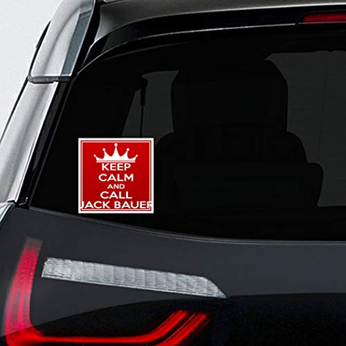 Makoroni - KEEP, CALM, AND, CALL, JACK, BAUER Car Laptop Wall Sticker Decal - 4.5