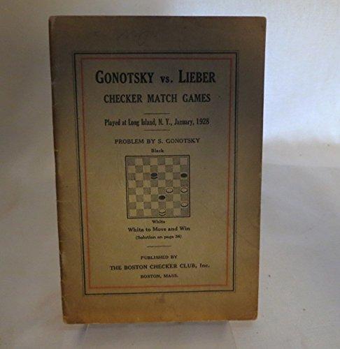 Gonotsky vs  Lieber: Checker Match Games: Herbert, (ed