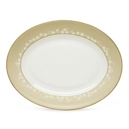 Lenox Bellina Gold Oval Platter 13.0 (China Bellina Bone)