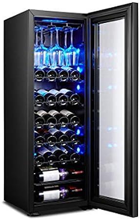 YFGQBCP Baja vibración Baja Bar de Hielo de Ruido Inicio termostato Vino humectante refrigerado por Aire, Independiente del refrigerador de Vino Chiller Control táctil Built-In