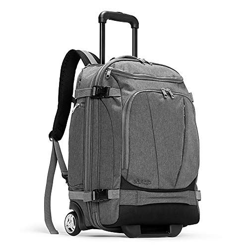 eBags TLS Mother Lode Rolling Weekender 22 Inch Travel Backpack with Wheels - Carry-On - (Heathered Graphite)