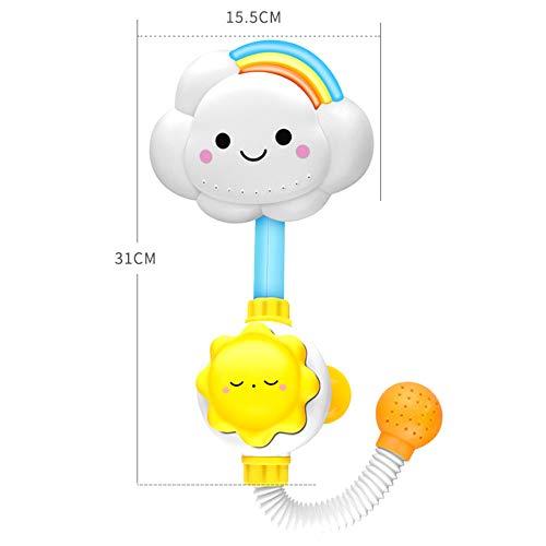Cute Cloud Spout Baby Bath Spray Toys with Sucker for Newborn Babies in Tub or Sink SYLOTS Baby Bath Shower Head