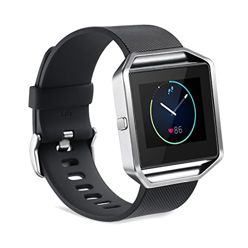 GinCoband Fitbit Blaze Bands Replacement for Fitbit Blaze Smart Watch No Tracker 8 Color Large Small Women (Black, Small)