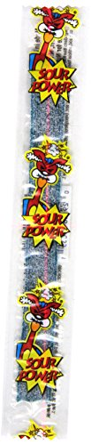 Sour Power Blue Raspberry, Individually Wrapped Belts (Pack of 150) (Blue Power)
