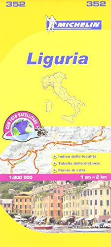 Michelin Map Italy: Liguria 352 1:200K (Maps/Local (Michelin)) (Italian Edition)