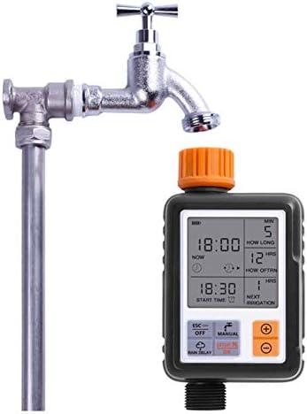 ZXL Automatischer Wassertimer, LCD-Bildschirm Sprinklersteuerung Garten-Timer für den Außenbereich Bewässerungswerkzeuge für automatische Bewässerungsgeräte