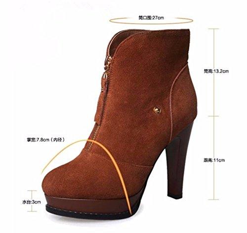 und Persönlichkeit Wolle Herbst warme FLYRCX im und Damen herzliche Mode warme Winter Stiefel elastische und rutschig 0450Iq